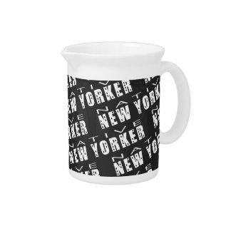 Native New Yorker Pattern Beverage Pitcher