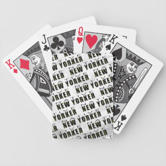 Native New Yorker Pattern Bicycle Playing Cards