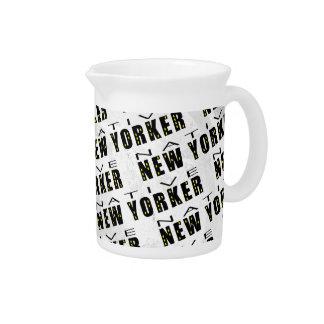Native New Yorker Pattern Drink Pitcher