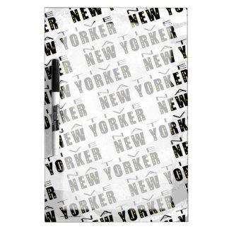 Native New Yorker Pattern Dry-Erase Board