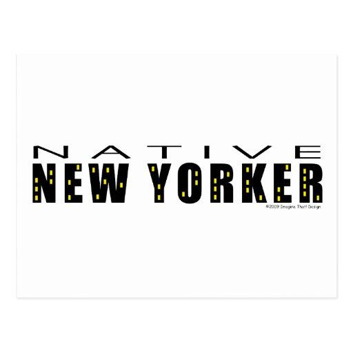 Native New Yorker Postcard Postcards