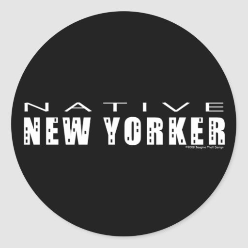 Native New Yorker Stickers