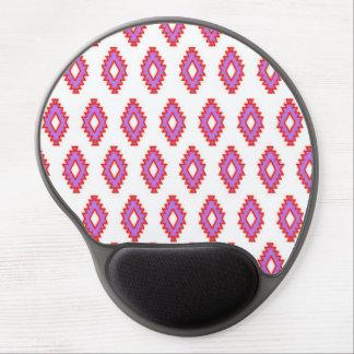 Native pattern squares pink purple white red fun gel mousepad