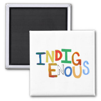 Native people Indigenous tribal fun colorful art Magnet