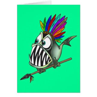 Native Piranha Card