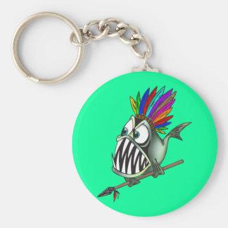Native Piranha Keychain