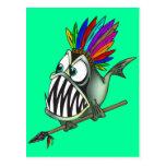 Native Piranha Postcard