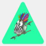 Native Piranha Triangle Stickers