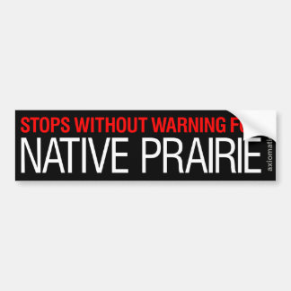 NATIVE PRAIRIE (WB) BUMPER STICKER