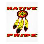 Native Pride 3 Feathers Letterhead