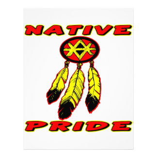 Native Pride 3 Feathers Letterhead