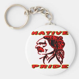 Native Pride Warrior #3 Basic Round Button Keychain