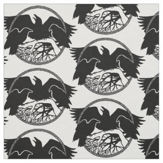 Native Raven Art Fabric Raven Crow Tribal Fabrics