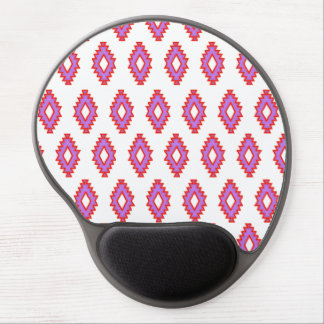 Native red purple squares beautiful blissful chic gel mousepads