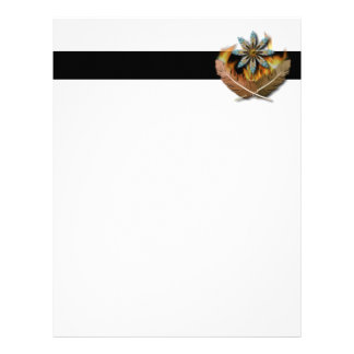 native red tailed hawk feathers and flames digital letterhead