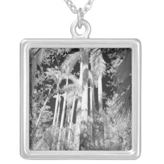Native Royal Palms in Fakahatchee Strand, Square Pendant Necklace