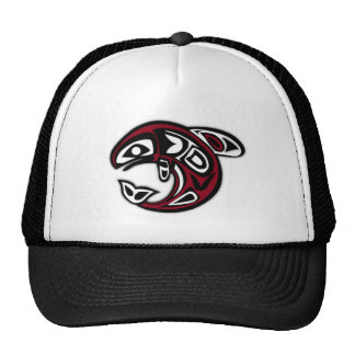 Native Salmon Fish Trucker Hat
