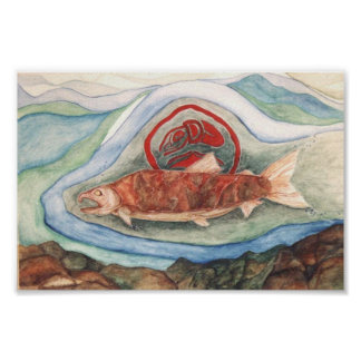 Native Salmon Poster