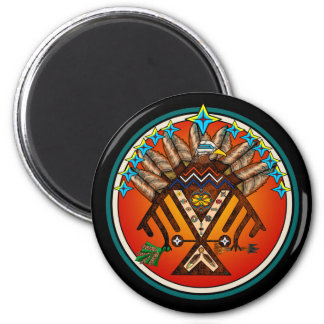Native Seal 2 Inch Round Magnet