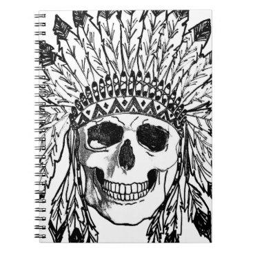 Native skull face art notebook