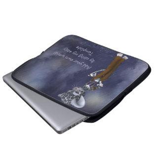 Native Snow Leopard Neoprene Laptop Sleeve