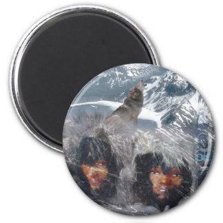 Native Spirit in Alaska Magnets
