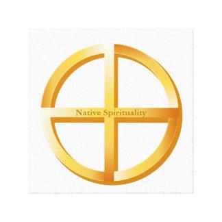 Native Spirituality Symbol Canvas Print
