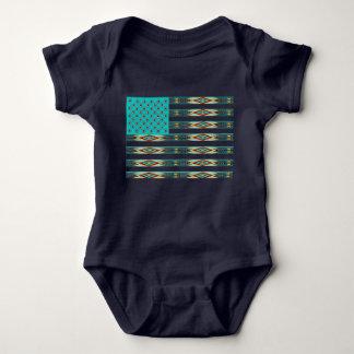 Native Styled American Flag Baby Baby Bodysuit
