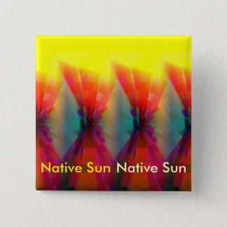 Native Sun Pinback Button