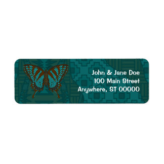 Native Swallowtail Address Label