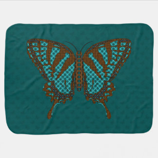 Native Swallowtail Baby Blanket
