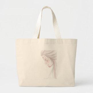 native tattoed woman tote bags