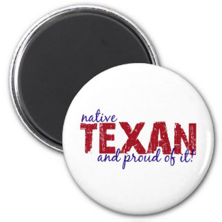 Native Texan 2 Inch Round Magnet