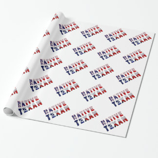 Native Texan Flag Wrapping Paper