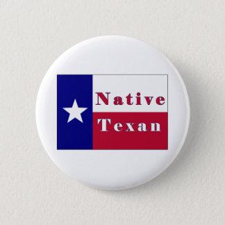 Native Texan Lone Star Flag Button