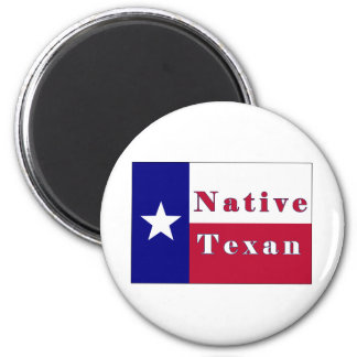 Native Texan Lone Star Flag Magnets