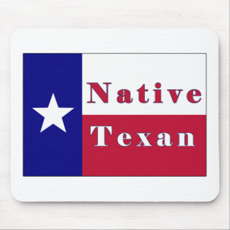 Native Texan Lone Star Flag Mouse Pad
