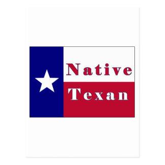 Native Texan Lone Star Flag Postcard