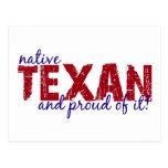 Native Texan Postcard