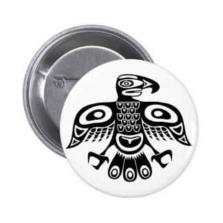 Native totem bird button