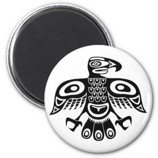 Native totem bird magnet