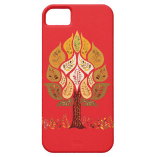 Native Tree on Red iPhone 5 Cases