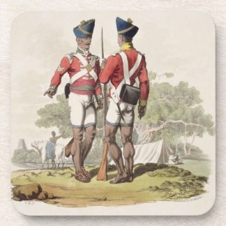 Native Troops in the East India Company's Service: Drink Coaster