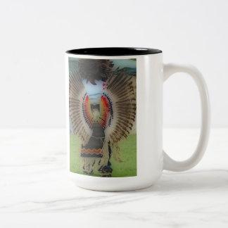 'Native War Wings' Two-Tone Coffee Mug