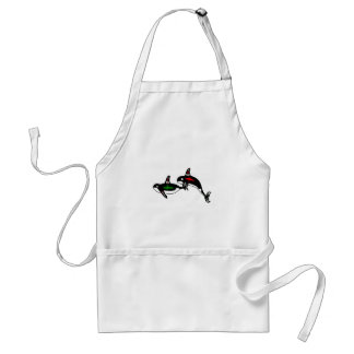 Native Whales Adult Apron