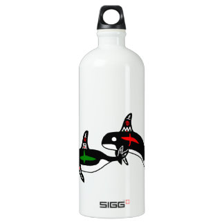 Native Whales Aluminum Water Bottle