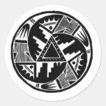 Native Wheel Round Sticker
