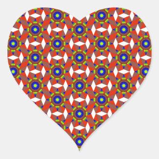 Native White Diamonds Heart Sticker