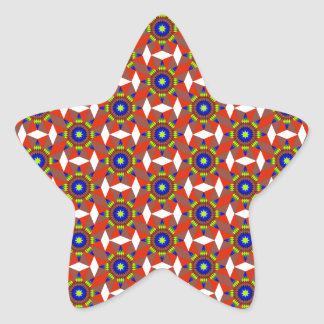 Native White Diamonds Star Sticker