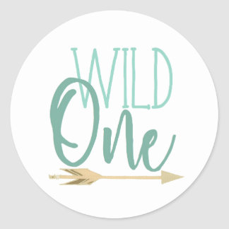 Native Wild One | First Birthday Party Classic Round Sticker